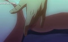 Hentai girl in big tits gets cunt teased in close-up