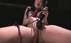 Nene Masaki Handles Her Pussy With Big Sex Toys