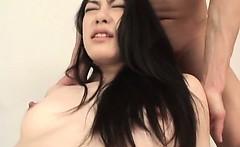 Two Asian hard dicks hammering Kyoka Ishiguros fuck holes