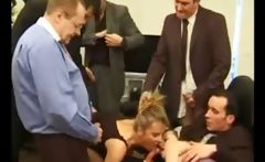 Group of men on one mature slut