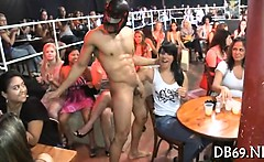 Disrobe dancer screwed at hen-party