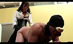 Slave dildo fucked like a swine