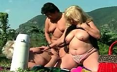 fat lesbian granny outdoor orgy