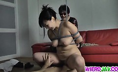 Lovely chick Megumi Haruka hardcore action with rear fuck