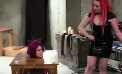 Femdom Lesbian Spank Whip And Masturbate