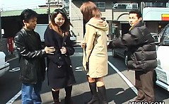 Amateur Japanese teens flash on the streets of Tokyo