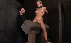 Caged up awesome chick acquires pleasuring