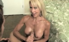 handjob busty mature loves to wank young cock