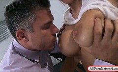 Huge boobs prisoner Zoey Holiday pussy and anal pounded