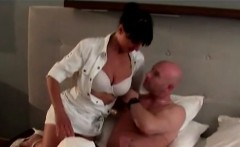 Room service hottie gets fucked by a gifted tourist