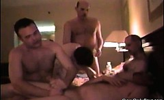 Crazy party dudes are having some hardcore gay sex after a