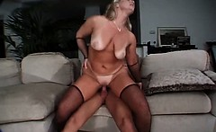 Very nasty and sexy blonde mature maid is still horny and