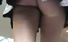 Teen With A Great Ass In A Short Skirt