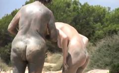 Nudists Getting A Tan