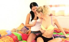 Girlfriends toying each other