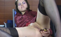 Stressed Out Mishelle Takes Office Break To Fuck Her Asshole