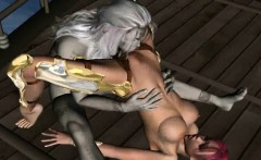 3D elf gets licked and fucked hard by a mosnter