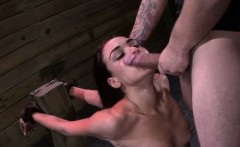 Restrained sub gets throated