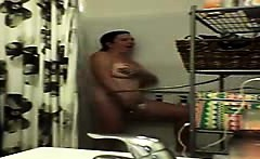 Spying my sexy busty aunt in the shower