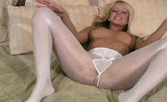 FetishNetwork Jana Cova sheer pantyhose