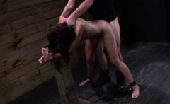 Throated bound sub roughly fucked