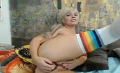 Cute Blonde Babe Reaching Orgasm