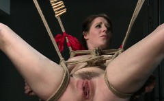 Busty sub pussy toyed by mistress in femdom bdsm