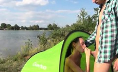 Eveline getting boned on camping site