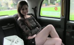 Slutty customer throated and anal fucked by fake driver