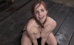 BDSM sub Bella Rossi bizarre puppy play