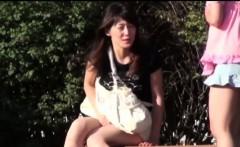 Asian women public piss