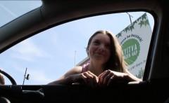 Hitchhiker teen Anita Bellini flirts and fucks a stranger