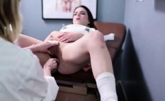 Doctor fucks lesbian Mormon babe with toys
