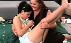 Chunky babe turns a hot schoolgirl in her nasty adult baby