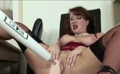 British lady masturbates with dildo