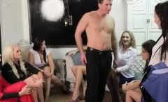 British amateur CFNM guy strips at ladies party