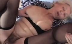 70yo Horny Granny Sucks Young Cock