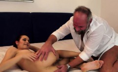 Horny Gramps Enjoys Flat Teen Hottie