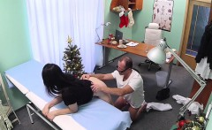 doctor fucks patient in an office on christmas day