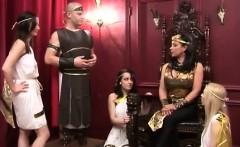 Three British femdom girls in male slave fantasy
