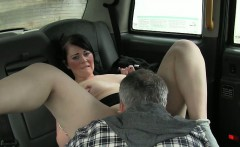 British bbw fucked in fake taxi in public
