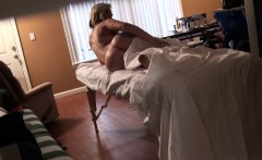 Raunchy and hot oil massage for breathtaking cutie