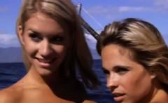 Hot badass girls sandboarding and dirty biking while naked
