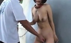 Sexy Japanese Slave Fingered In Public