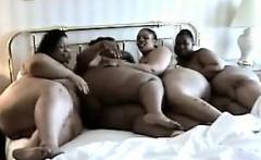 Large Amateur Lesbians In A Foursome