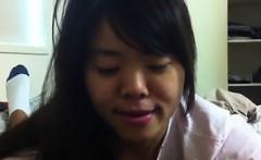 Cute Asian Girlfriend Gives A BJ POV