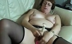 Grandma Masturbating With Adult Toys