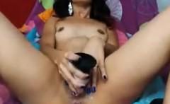 Latina Masturbating With A Long Toy