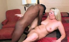 Slutty MILF enjoying black dick nailing her