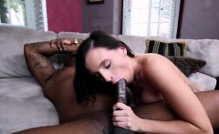 Giant black cock for sexy big butt brunette